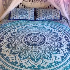 Our best seller is now available in a doona cover! (Also known as a duvet or bedspread.) Handmade from 100% Organic Cotton featuring a vibrant mandala design.