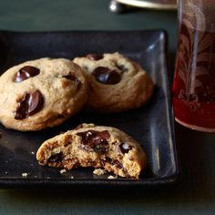 Nut-Chocolate Chunk Cookies | The secret to these perfectly chewy cookies is chilling the dough for 20 minutes. This firms the dough, making it easier to scoop out and less likely to spread during baking.