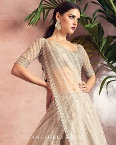 Brand new Anushree Reddy 2019 Bridal Lehengas are here. Whether you are a fan of her style or not, you are going to love her latest designs. Indian Bridal Outfits, Indian Designer Outfits, Bridal Dresses, Designer Dresses, Wedding Lehenga Designs, Designer Bridal Lehenga, Dress Indian Style, Indian Dresses, Indian Wear