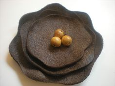 Leather Flower Clip Tutorial