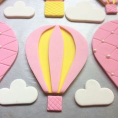 Hot air Balloon fondant decorations
