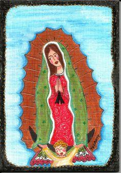 Virgen de Guadalupe by YOLARTE by CRAFTYOLY on Etsy, $25.00