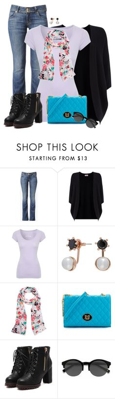 """Cocoon Cardigan"" by sherbear1974 ❤ liked on Polyvore featuring Hudson Jeans, Phase Eight, Jane Norman, ban.do, Love Moschino and EyeBuyDirect.com"