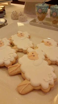 Adorable cookies at a sheep 1st birthday party! See more party ideas at CatchMyParty.com!