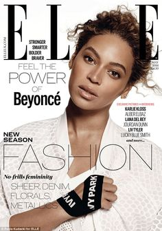 Beyoncé  shows off her natural beauty as she dons Ivy Park for Elle | Daily Mail Online