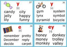 phonics flashcards for learning English short i sound Phonics Chart, Phonics Flashcards, Phonics Rules, Jolly Phonics, English Language Learning, Teaching English, Learn English, English Phonics, English Vocabulary