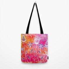 Watercolor Flowers 2 Tote Bag