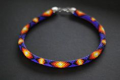 Cobalt Blue Necklace Native American Inspired Necklace Bead