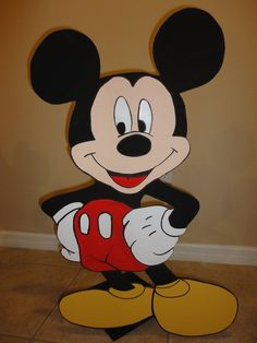 Mickey Mouse 3 ft Wood Standees    Birthday Decorations  adorabledecorations.com