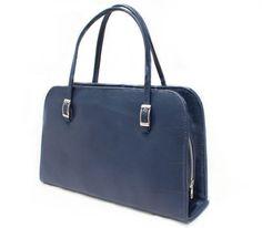 Women blue handbag/ Leather handles canvas tote / Gift for her / White purse / Luxe wedding clutch / Zipper pouch / Makeup organizer bag de AnaPregodesign en Etsy