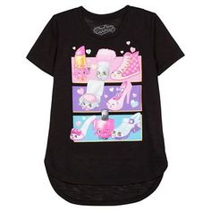 Girls' Shopkins Short Sleeve Tee - Black