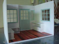 Room box sala escala 1/6 para bonecas Barbie, blythe, serve como decoração de quartos, festas de aniversário e coleção R$450,00