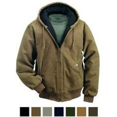 Men's DRI DUCK Canvas Hooded Cheyenne Work Jacket