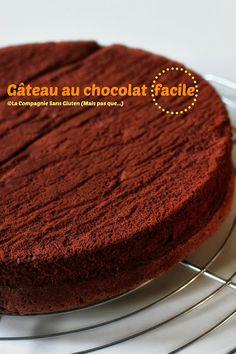 La-Compagnie-Sans-Gluten, un blog-sans-gluten-et-sans-lait, bio-et-végétarien !: Gâteau au chocolat facile sans gluten et sans lait