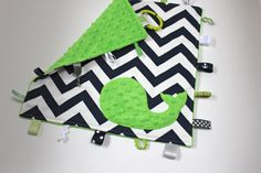 Chevron WHALE nautical baby blanket lovey  shower by LilKingdom, $24.00