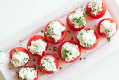 You have the power to contribute a healthy, delicious, festive app this holiday season that everyone will enjoy, like these Goat Cheese Stuffed Tomatoes! Meat Recipes, Cooking Recipes, Healthy Recipes, Holiday Appetizers, Holiday Recipes, Feta, Oatmeal Breakfast Cookies, Apple Butter, Stuffed Peppers