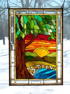 Colorful Tree Scene panel, take II - by Glitz & Grandeur