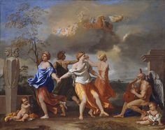 NICOLAS  POUSSIN, 1594 - 1665: A Dance to the Music of Time. Oil on canvas, 83 x 105.