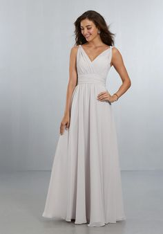 fbf6558f1c3 Check out the deal on Morilee 21553 Draped Chiffon Bridesmaid Dress at French  Novelty Long Wedding