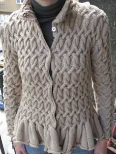 ~ Living a Beautiful Life ~ Bergere of France jacket with a shorter peplum and center opening. The original pattern has an asymmetrical opening.