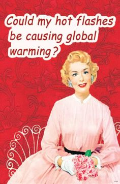 Could my hot flashes be causing global warming? I think so Retro Humor, Vintage Humor, Vintage Quotes, Retro Ads, Hot Flashes Humor, Global Warming Poster, Menopause Humor, Just For Laughs, Make You Smile