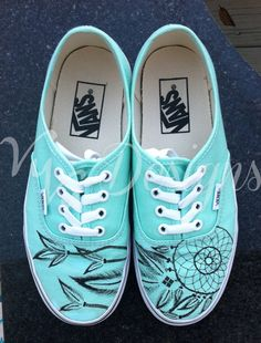 *I offer the color, Beach Glass for Canvas Authentic Vans and the color, Aqua Splash for Lo Pro Vans. If you would like a different color, please