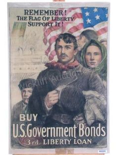 WWI United States war bond poster #antique #poster #wickliffauction
