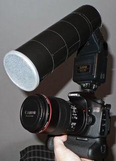 15 Trucs et astuces à faire avec vos boîtes de Pringles vides... fabriquer un Macro diffuseur pour une caméra.