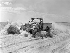 The British Army In North Africa, A 15cwt truck throws up a cloud of sand and dust while moving at speed along a desert track, 1 November 1940. Pin by Paolo Marzioli