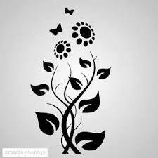 Znalezione Obrazy Dla Zapytania Kwiaty Szablony Na Sciane Sunflower Stencil Stencil Graffiti Stencil Patterns