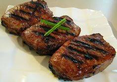 Teriyaki pork chops *Pretty good in the oven. A nice home made teriyaki sauce. AE *
