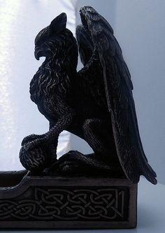 Celtic Griffin Incense holder Gryphon Sculpture Incense burner for stick incense