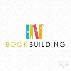 logo for book store, book club, library or publisher. Typo Logo, Logo Branding, Library Logo, Building Logo, Book Logo, Creative Logo, Education Logo, Logo Design, Graphic Design