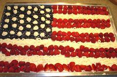 White Sheet Cake for an American Flag Cake Recipe
