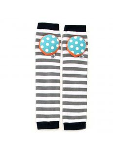 Happy Knees Legwarmer - Cookie Monster Stripe - Crawler Kneepad Legwarmers, $15 www.bellatunno.com