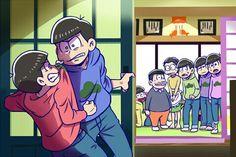 This episode makes me cri everytime i watch it Osomatsu San Doujinshi, Dark Anime Guys, Laughing And Crying, Ichimatsu, Manga, Haha Funny, Anime Couples, My Little Pony, Geek Stuff