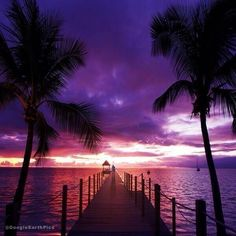 Purple Sunset, Hawaii, USA