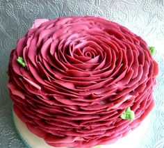Piped Cake - Petal to the metal rose cake by Star Bakery