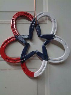 Patriotic horseshoe decoration