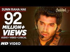 """Presenting full song """"Sun Raha Hai Na Tu"""" with lyrics from movie """"Aashiqui produced by T-Series Films & Vishesh Films, starring Aditya Roy Kapur, Shraddha. Bollywood Music Videos, Bollywood Movie Songs, Roy Kapoor, Drama Games, U Tube, Mp3 Song Download, Download Video, Saddest Songs, The A Team"""