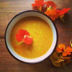 Cold Coconut Carrot Soup // The Shortbread Cure