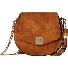 Gabriella Rocha Crossbody Purse with Tassel (Brown) Cross Body Handbags