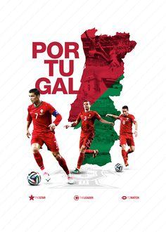 Portugal World Cup 2014 Football Ads, World Football, Football Posters, Sports Posters, Brazil World Cup, World Cup 2014, Soccer Art, Play Soccer, World Cup Teams