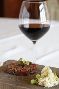 Steak Tartar with Pinot Noir..anything with Pinot Noir.