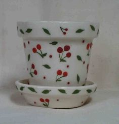 Cherries Flower Pot