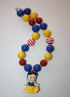 """19"""" Snow White Bubble Gum Necklace"""