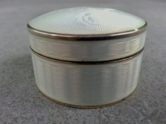 Guilloche enamel silver pillbox by David Andersen of Norway. Former collection.