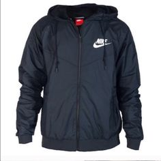 NWT NIKE BLACK WINDBREAKER Super cute and brand new with tags! Size mens m BUT FITS LIKE A WOMENS MEDIUM!  Bought from Nike Asia. If this item is out of stock it will be restocked within a few months (since I travel) so keep checking back! This one is black on white. Two layers of mesh panels and wind proof material make this jacket very versatile and perfect for layering! Price is firm on this item. Currently only a few in stock so buy before it's taken by someone else! MORE SIZES ALSO…