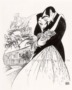 """Gone With The Wind"" (1939) by Al Hirschfeld"