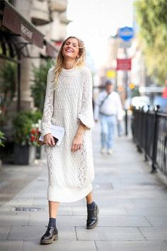 sweater dress #fallstyle
